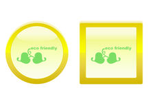 Eco friendly icon Royalty Free Stock Photos