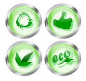Eco Friendly Icon Buttons Royalty Free Stock Images