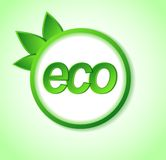 Eco friendly icon on frame. Stock Photos