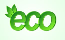 Eco friendly icon. Royalty Free Stock Photo