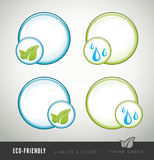 Eco-friendly icon for products and presentations Stock Image