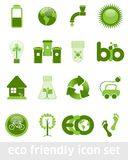 Eco Friendly Icon Set Royalty Free Stock Images