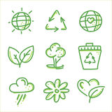 Eco friendly icon set Stock Photos