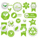 Eco friendly icons Stock Images