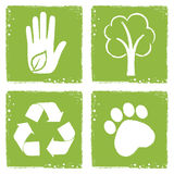 Eco friendly icons. In grunge style royalty free illustration