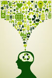 Eco friendly icons illustration Royalty Free Stock Images