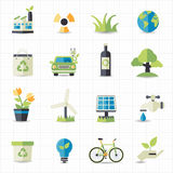 Eco friendly icons. This image is a vector illustration Royalty Free Stock Image