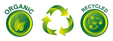 Eco Friendly Icons Royalty Free Stock Images