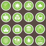 Eco Friendly Icons Vector Set Go Green Stock Photo