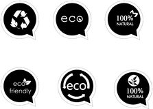 Eco Friendly Icons. Which can be used for your products Stock Photos