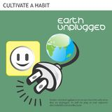 Eco Friendly Ideas Earth Unplugged. Unplug your electrical appliances when not in use Stock Photography
