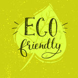 Eco friendly illustration with calligraphy at Stock Images