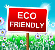 Eco Friendly Indicates Earth Day And Conservation Royalty Free Stock Image