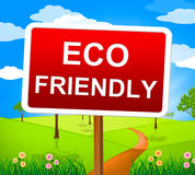 Eco Friendly Indicates Earth Day And Ecological Royalty Free Stock Image
