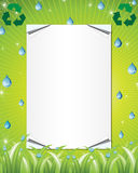 Eco friendly invitation background Royalty Free Stock Photos