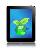 Eco friendly ipad Stock Photography