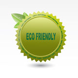 Eco friendly label. On a white background Royalty Free Stock Photos