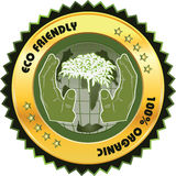 Eco friendly Label Stock Image