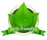 Eco friendly. Label. 100 percent natural badge. Vector illustration Royalty Free Stock Photography