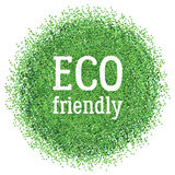Eco friendly label. Round shape confetti. Stock Images