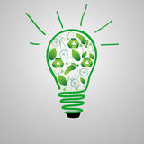 Eco-friendly lamp Royalty Free Stock Images