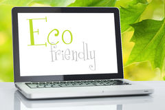 Eco friendly laptop Royalty Free Stock Image