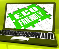 Eco Friendly Laptop Shows Green Royalty Free Stock Photography