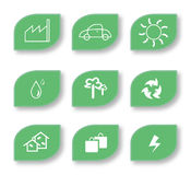 Eco Friendly Leaf Icon Stock Photos