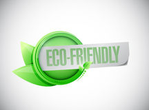 Eco friendly leaves banner illustration design Royalty Free Stock Photography