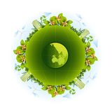 Eco Friendly with leaves for save ecology concept. Stock Images