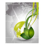 Eco Friendly with leaves for save ecology concept. Royalty Free Stock Image
