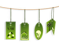 Eco-friendly life tags Royalty Free Stock Photography