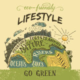 Eco friendly lifestyle concept illustration Royalty Free Stock Photos