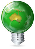 Eco-friendly light bulb Stock Photos