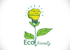 Eco friendly light bulb plant Stock Photo
