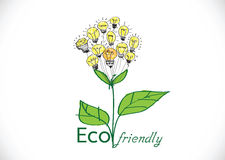 Eco friendly light bulb plant Stock Image