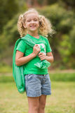 Eco friendly little girl smiling to camera Stock Images