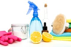 Free Eco-friendly Natural Cleaners, Cleaning Products. Homemade Green Cleaning Stock Images - 135938304