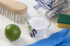 Eco-friendly natural cleaners Stock Image