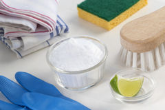 Eco-friendly natural cleaners Royalty Free Stock Photography