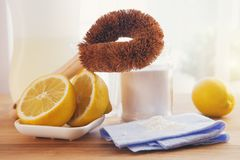 Eco-friendly natural cleaning products royalty free stock images