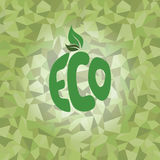 eco friendly natural label organic product sticker logo Stock Images