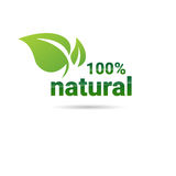 Eco Friendly Organic Natural Product Web Icon Green Logo Royalty Free Stock Images