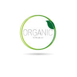Eco Friendly Organic Natural Product Web Icon Logo Stock Images