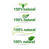 Eco Friendly Organic Natural Product Web Icon Set Green Logo Collection Royalty Free Stock Images