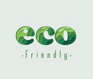 Eco Friendly paper vector concept Stock Photography