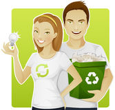 Eco-friendly people Stock Images