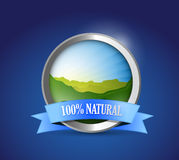 Eco friendly 100 percent natural seal illustration. Design graphic Stock Photo