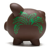 Eco Friendly Piggy Bank Stock Photography