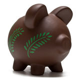 Eco Friendly Piggy Bank Stock Photos